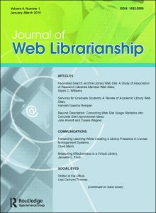 cover photo for the Journal of Web Librarianship